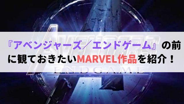 アベンジャーズ エンドゲーム MARVEL作品 紹介! 評価 考察