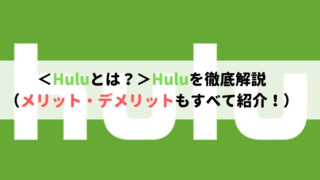 <Huluとは?>Hulu歴5年以上が徹底解説(メリット・デメリットもすべて紹介!)